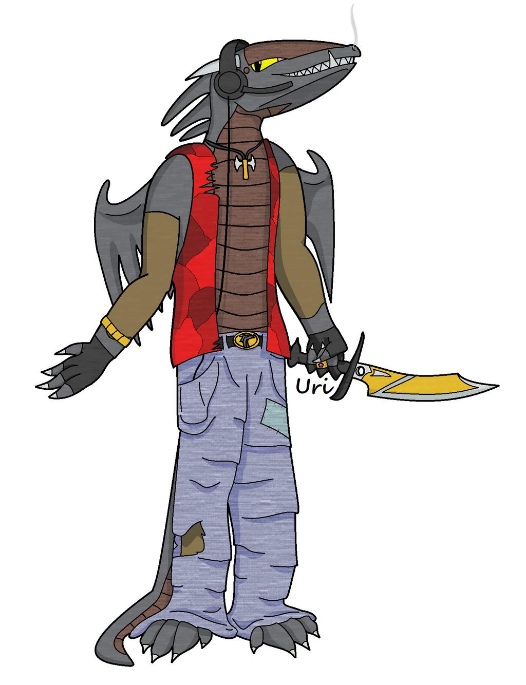 Humanoid Dark Dragon Fanart by Anhrak
