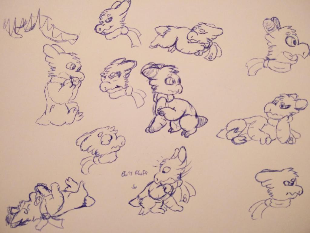 Wyngro - Shay sketches pt1 by Anhrak