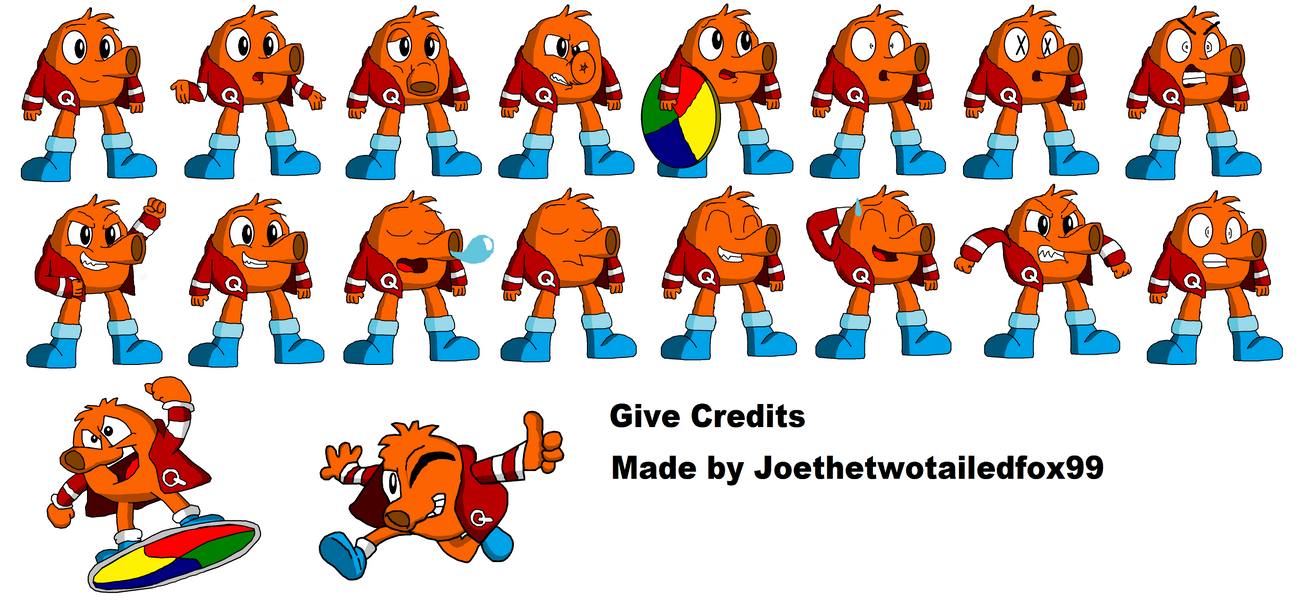 QBert Talk Sprites (Update) by joethetruefox on DeviantArt