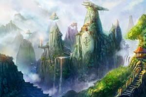 Game Scene Feiyun Peak by firebolide