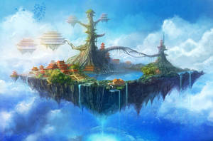 Game Scene Paradise Island by firebolide