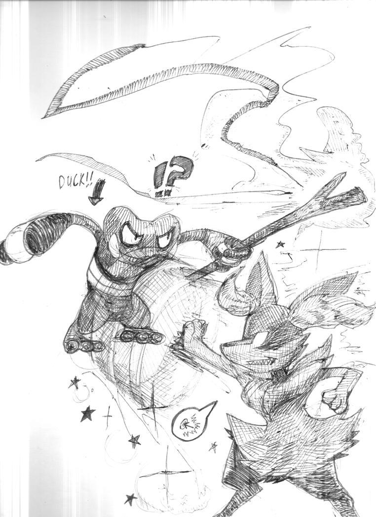 Pokken Tournament Sketch by Shotomanexe