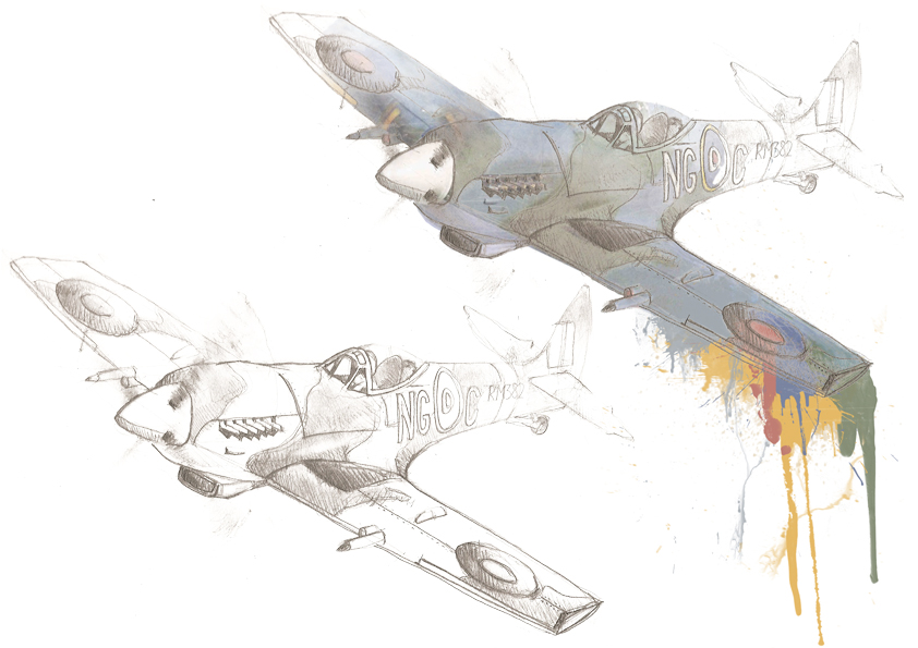 spitfire drawing. spitfire sketch 2 by gavlea drawing