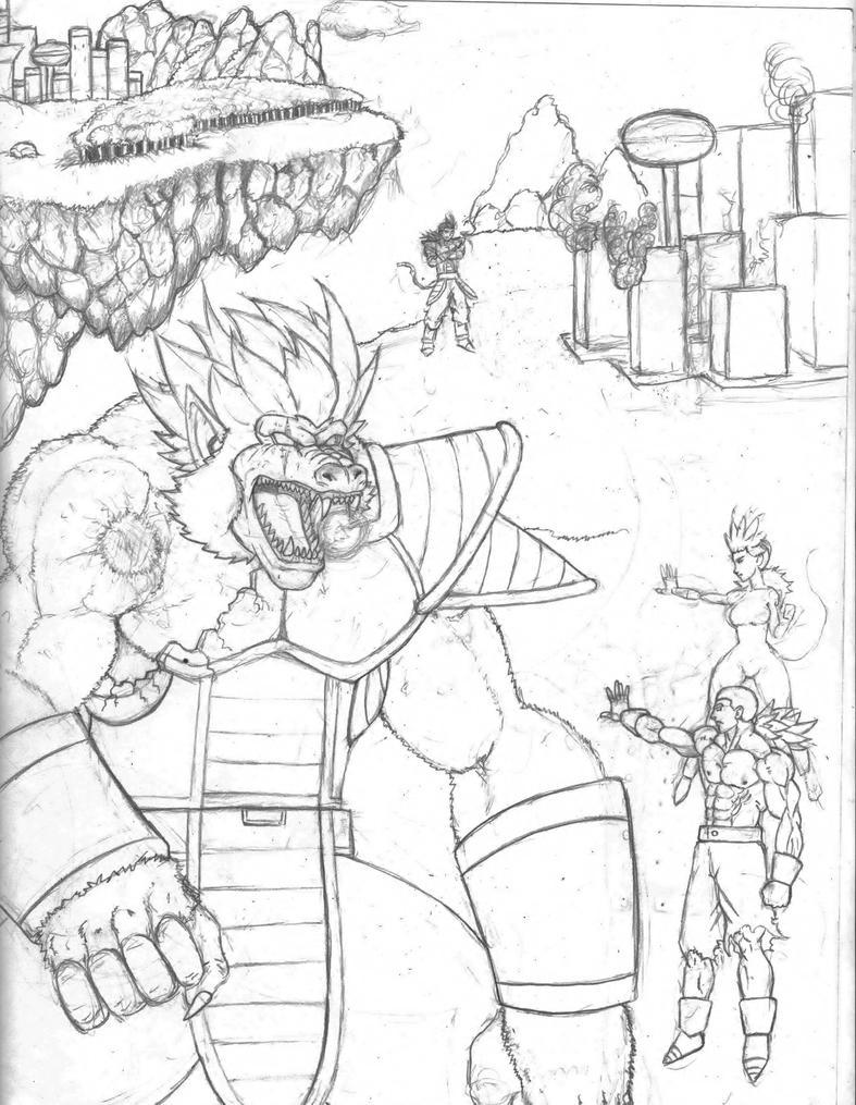 Evil mega sayians vs the Good mega sayains pre ske by mack901