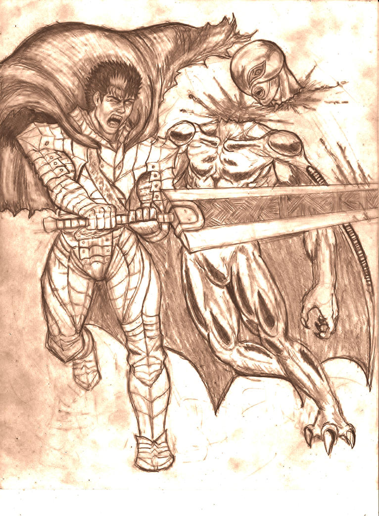 Guts The Black swordsman Revenge on Femto by mack901