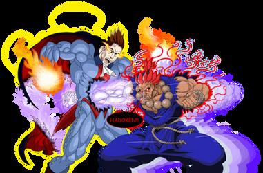 Akuma kills Demitri Maximoff by mack901