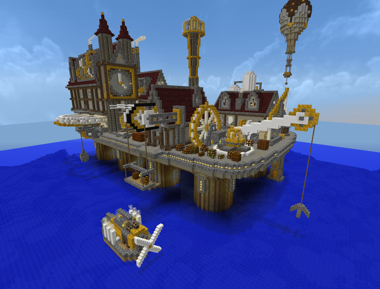 Minecraft - Steampunk City by Virenth on DeviantArt