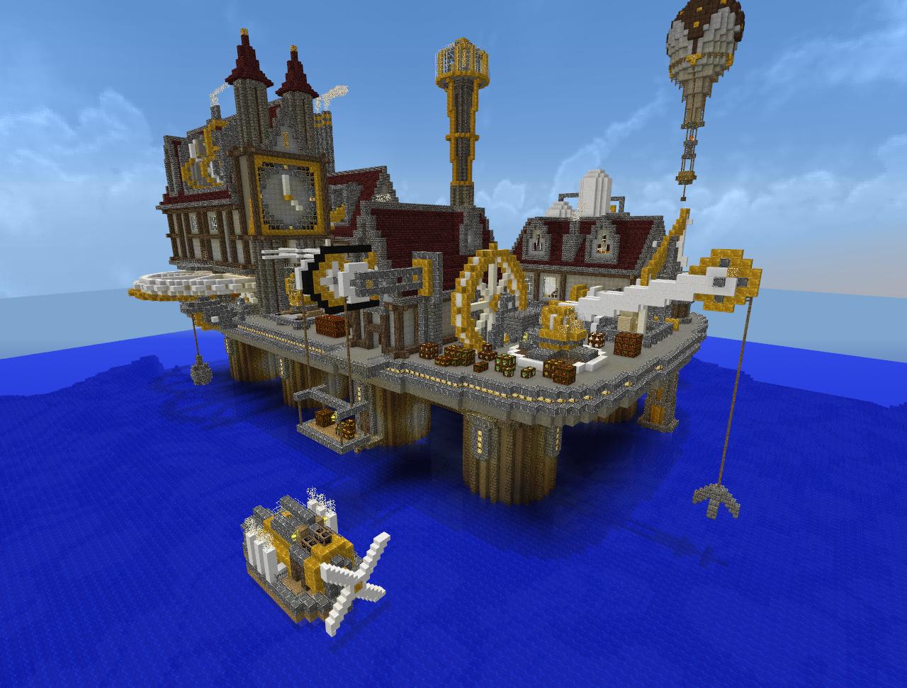 Minecraft - Steampunk City by Virenth on DeviantArt