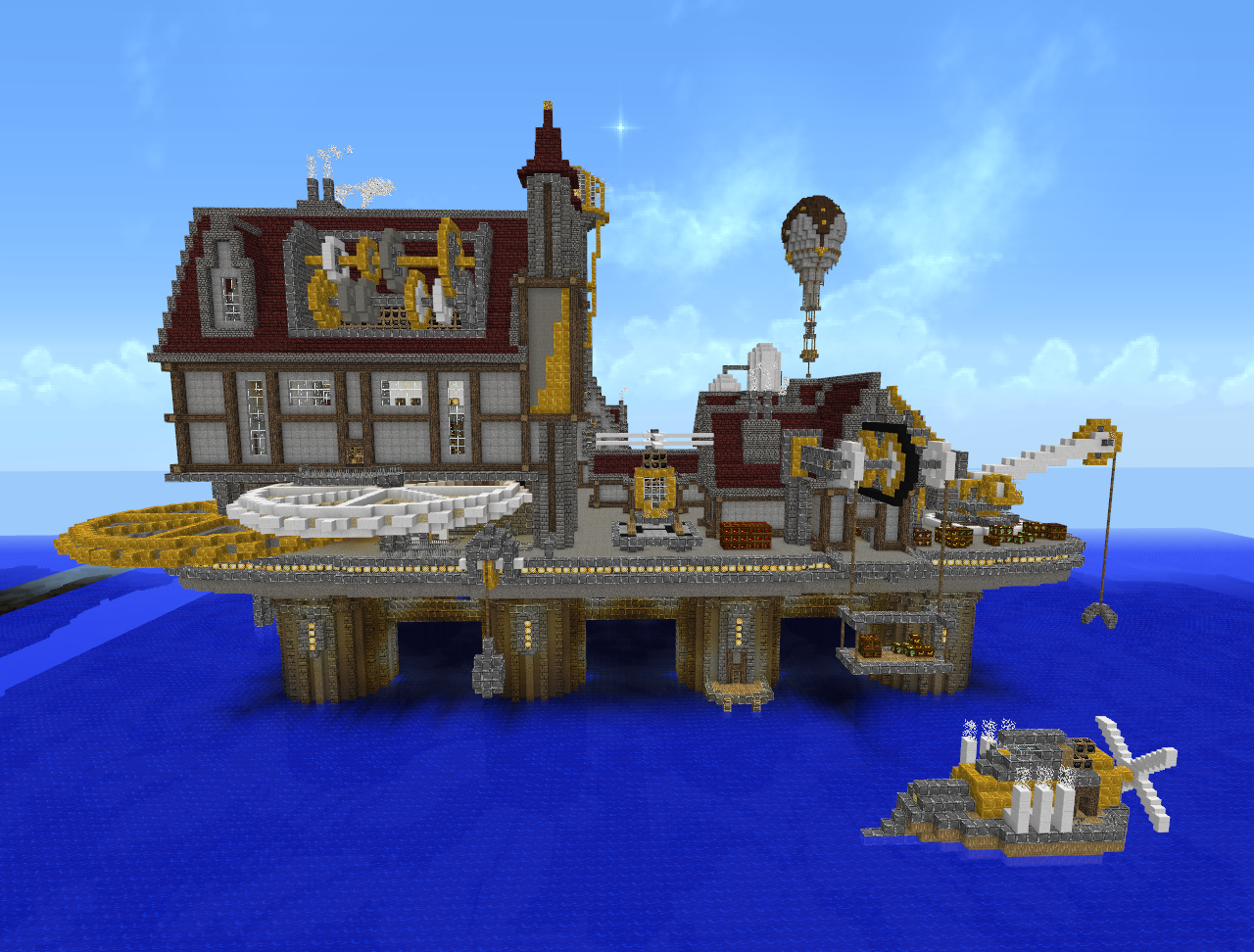 Minecraft steampunk city 2 by virenth on deviantart