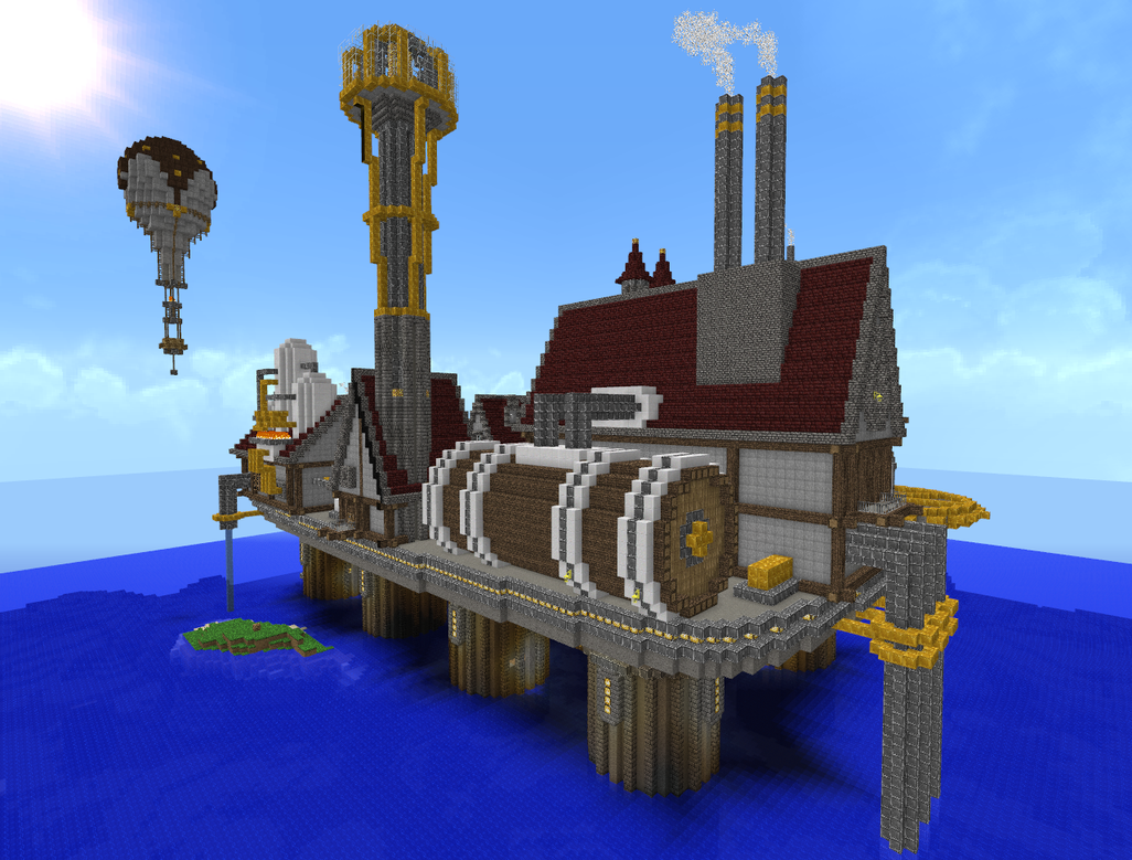 Minecraft Steampunk City 3 by Virenth on DeviantArt