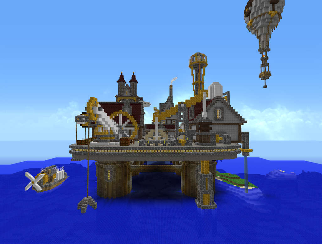 Minecraft - Steampunk City 4 by Virenth on DeviantArt
