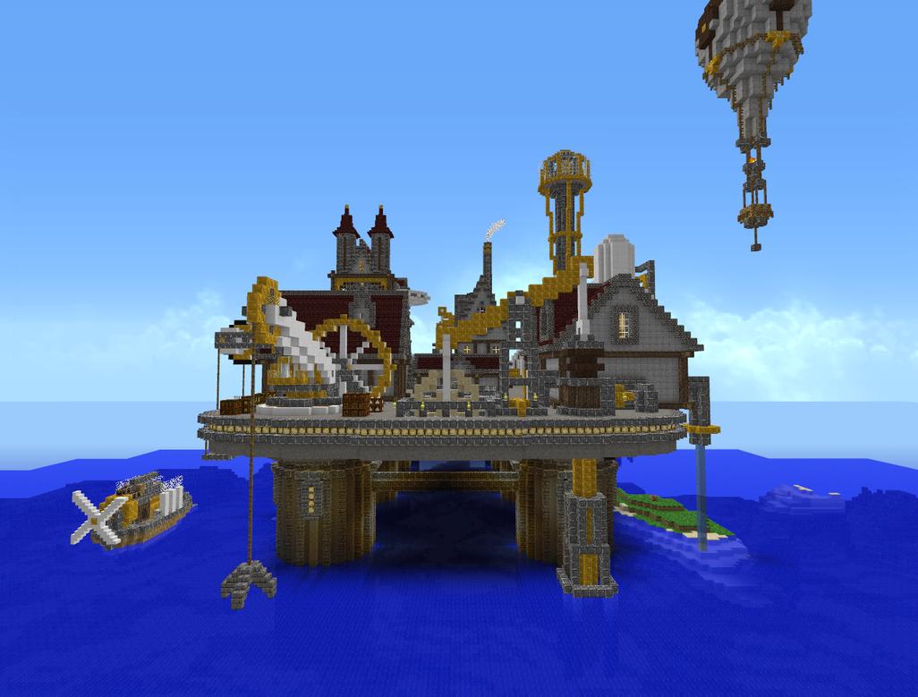 Minecraft - Steampunk City 4 by Virenth on DeviantArt