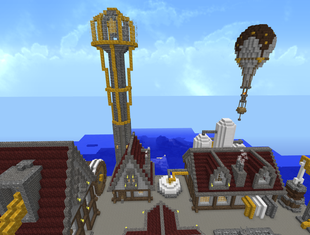 Minecraft Steampunk City 6 by Virenth on DeviantArt