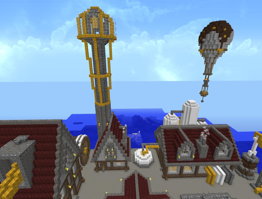 Minecraft Steampunk City 6 by Virenth on DeviantArt