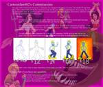 OPEN Commissions sheet by Cartoonfan402