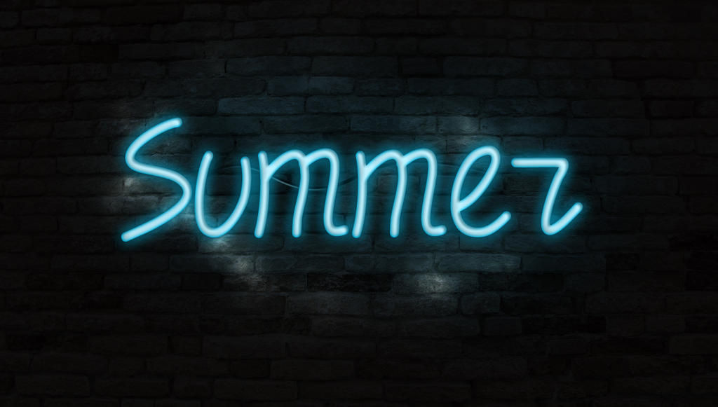 summer font design neon text by 4and4 on deviantart