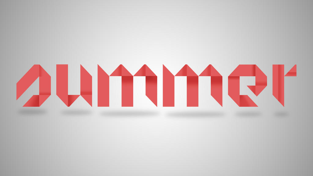 Summer Font Design Origami Text By 4and4 On Deviantart
