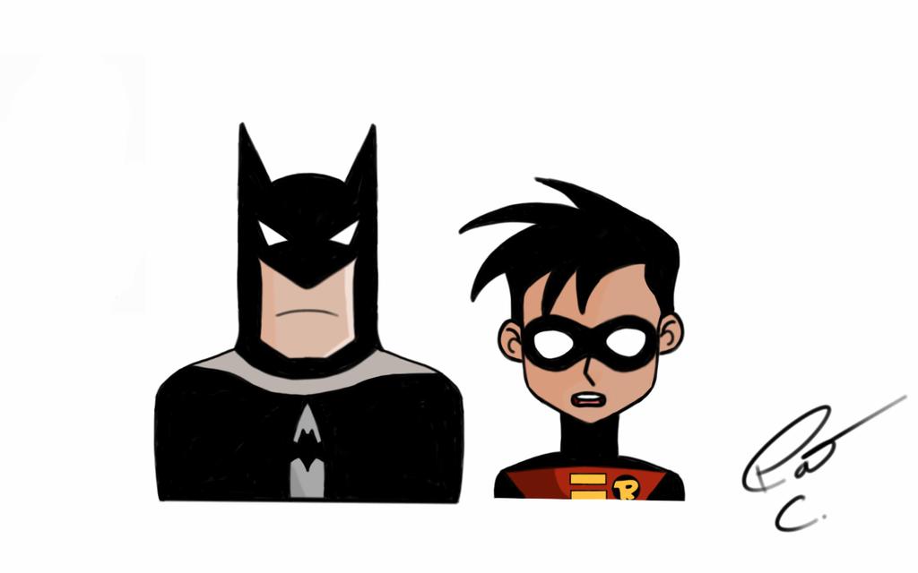 Batman and Robin (Cartoon Buddies) by 4and4 on DeviantArt