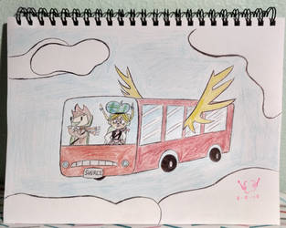 Don't Let the Imaginary Friend Drive the Sky Bus!! by CurlyBraceDraws