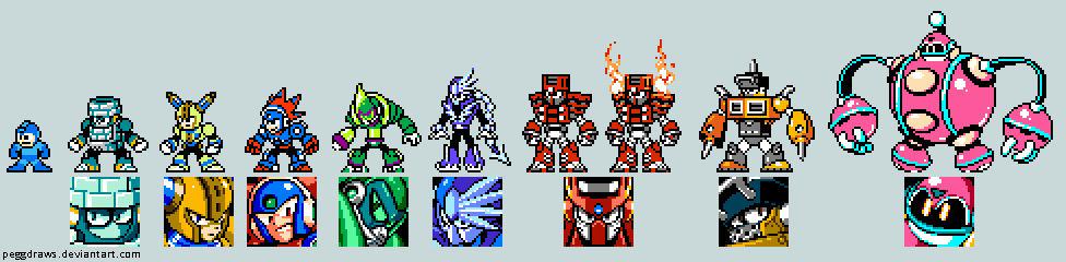 Mega Man 11 Robot Masters in 8 Bit!!