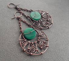 Copper earring 1 by ggagatka