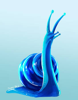 Blue Snail Dude