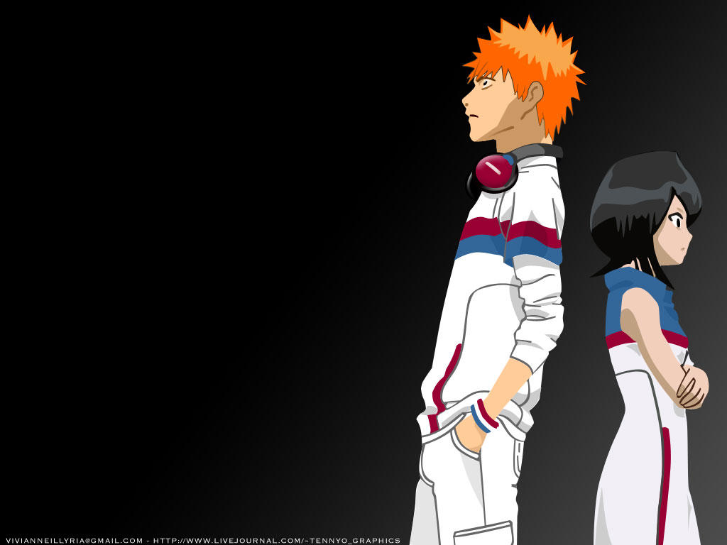 Ichigo and Rukia 2.0 - Grey by vivianneillyria on DeviantArt