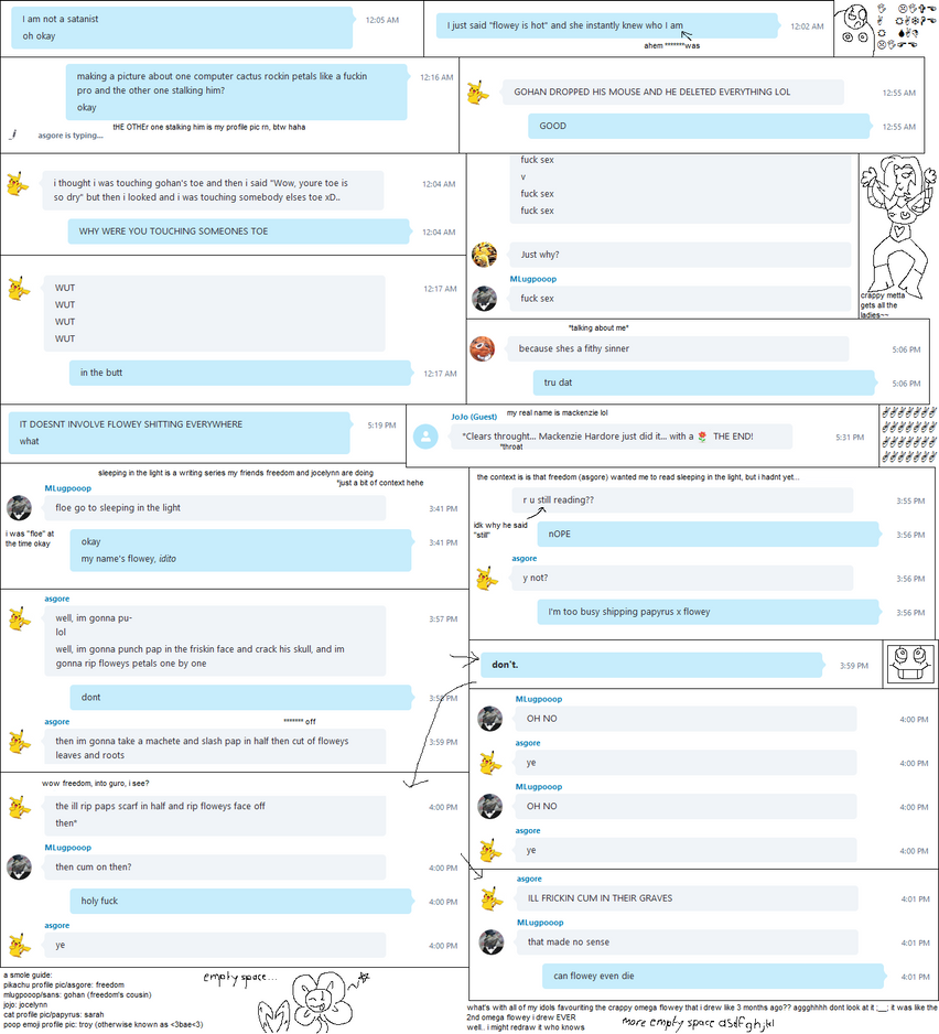 my skype conversations are weird by Rebluesive