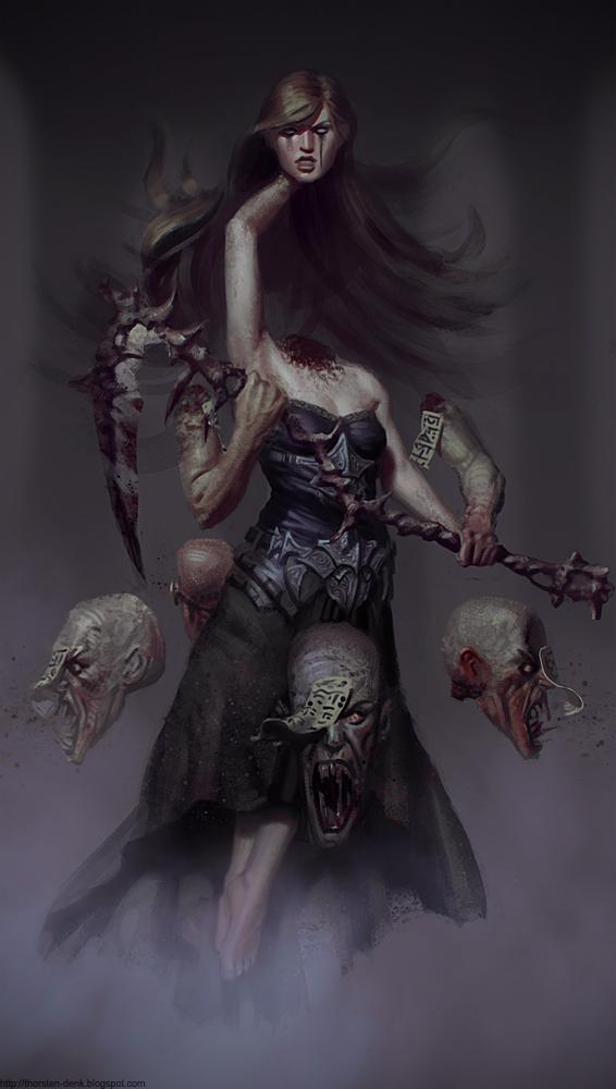 Graveyard Witch by Thorsten-Denk