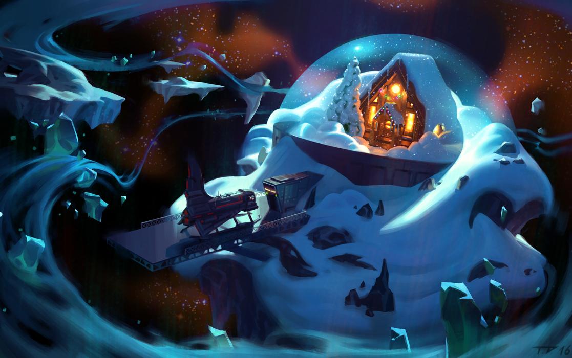 Winter Cabin by Thorsten-Denk