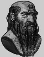 Sketch - Dwarf by Thorsten-Denk