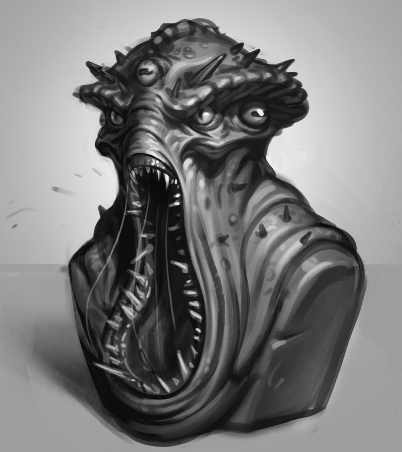 Sketch - Alien Bust by Thorsten-Denk