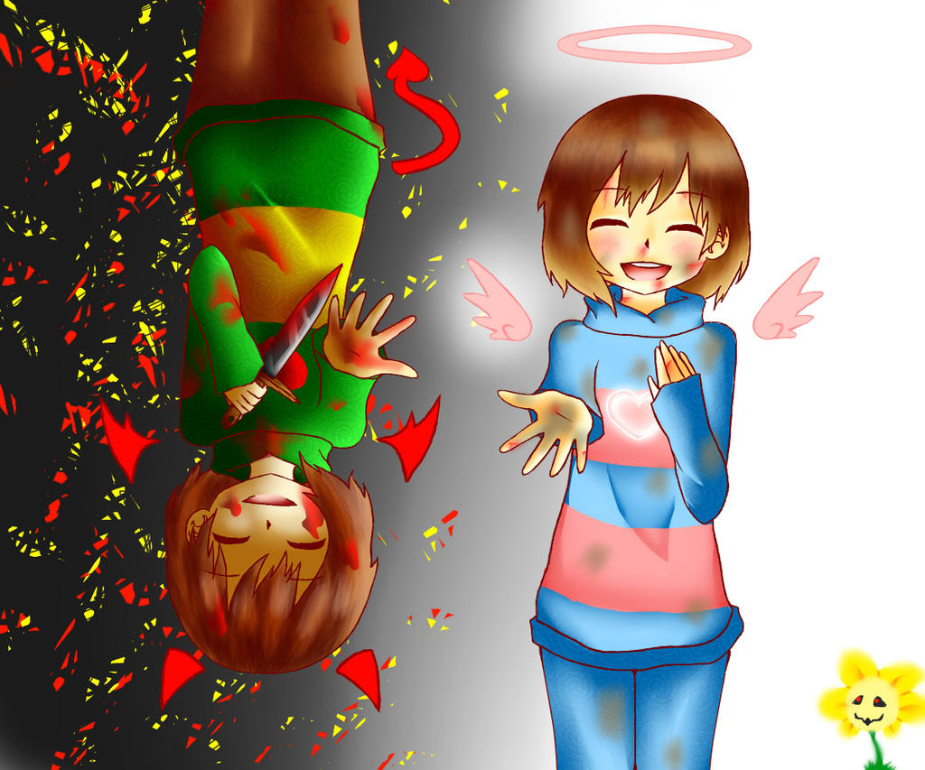undertale   chara and frisk by leiamanga on deviantart
