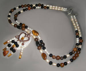 Tiger's Eye Heart necklace