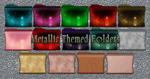 Metallic Themed Folders