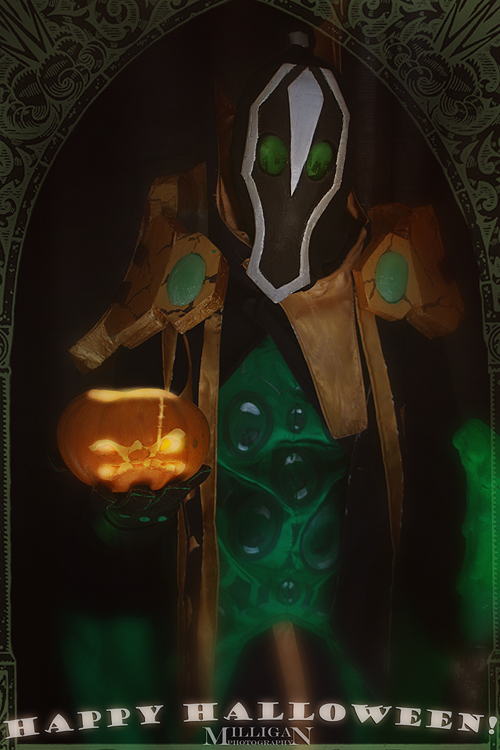 DotA 2 - Halloween - Rubick and Pudge the Pumpkin by MilliganVick
