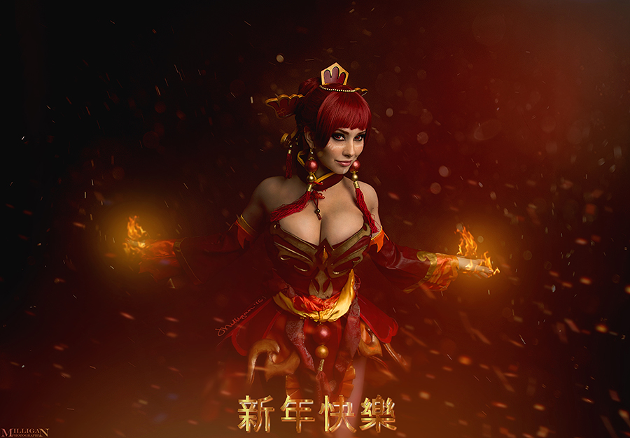 dota 2 lina happy chinese new year by milliganvick on deviantart
