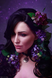 The Witcher - Flower portraits - Yennefer