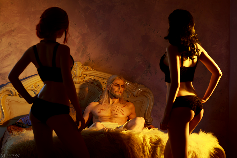 TW:WH - Yennefer, Triss, Geralt by MilliganVick