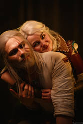 TW:WH - Little Ciri and Geralt by MilliganVick