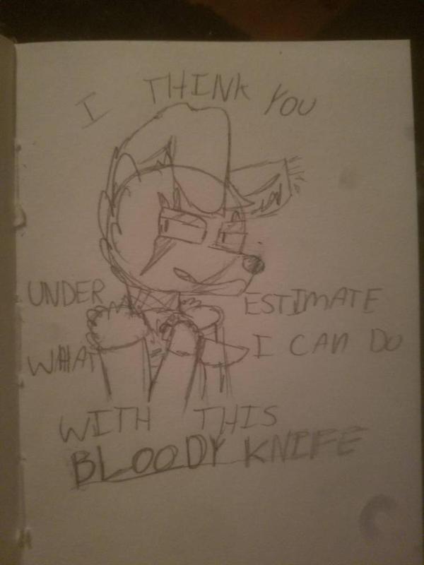 Bloody Knife [sketch] by BeanieHutini
