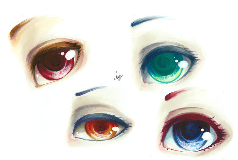 Eye Practice with my Copics! by ramuramu