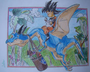 2012's Goku and a good friend! [Dragon Ball] by delPuertoSisters