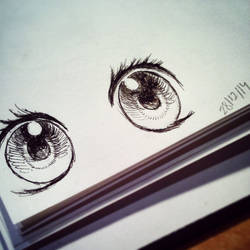 Trying to draw beautiful eyes! [2014]