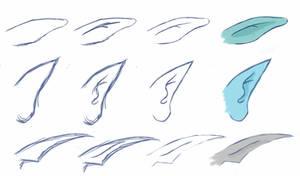 Manga style tutorial #03 - Elf ears step by step by sexy-shady