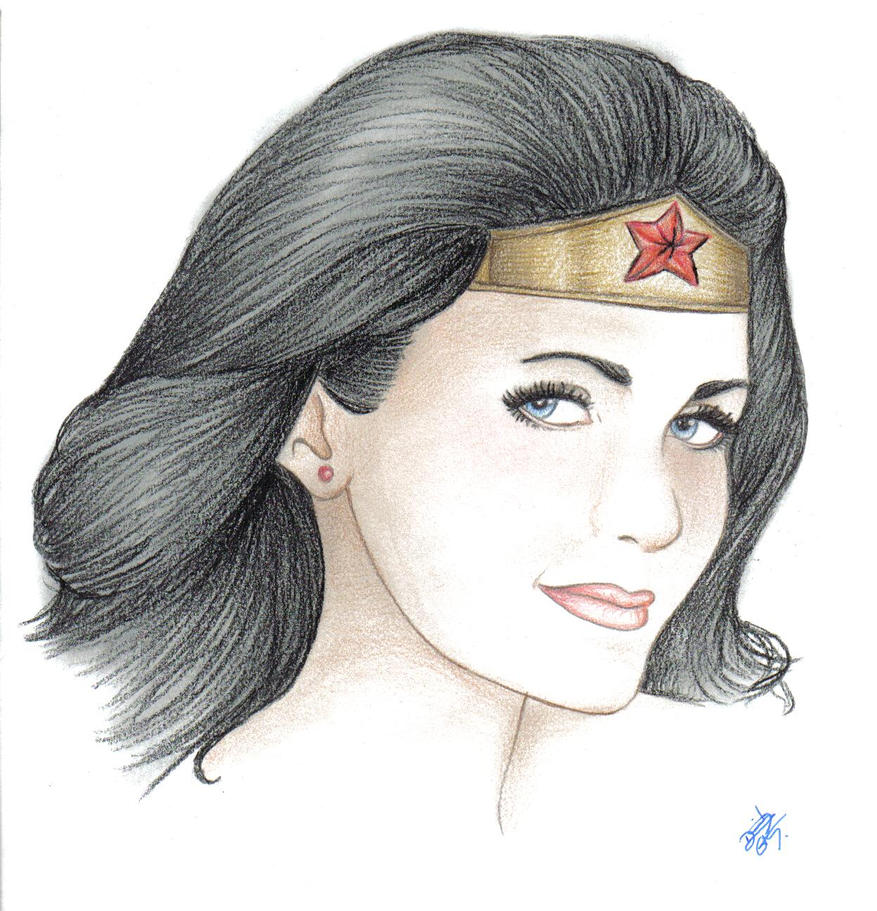 Lynda Carter as Wonder Woman by davidgozu