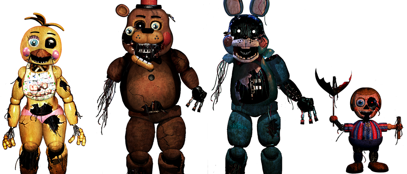 five nights at freddy s withered toys by christian2099 on deviantart