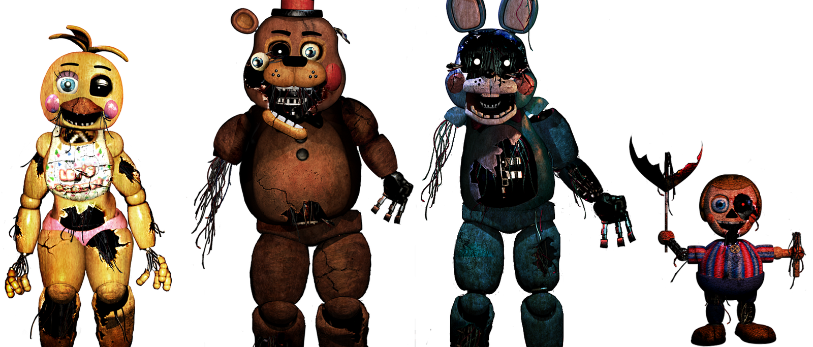 Old Freddy Toys : Five nights at freddy s withered toys by christian