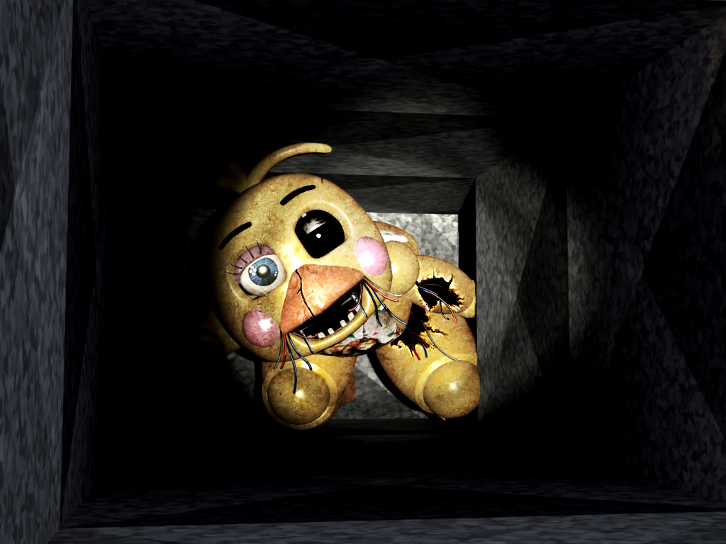 Fnaf Withered Toychica In The Air Vent By Christian2099