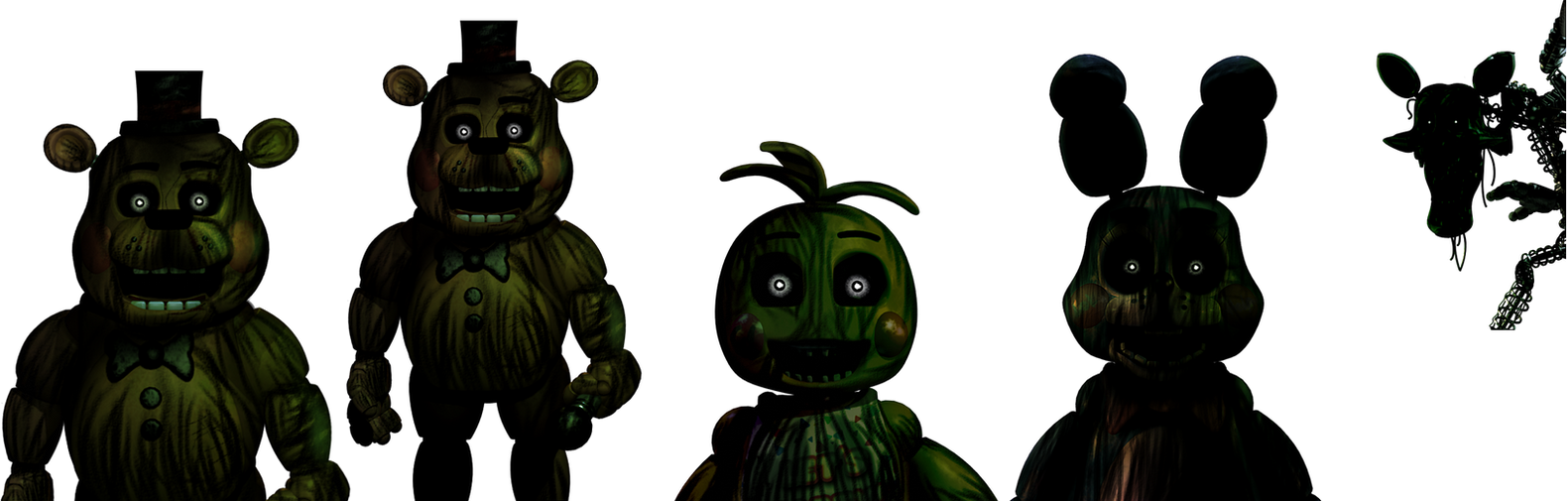 Five nights at freddy s 3 phantomtoys by christian2099 on deviantart